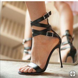 48HRSALE💥Black GIANVITO ROSSI Aleris Heels 36.5